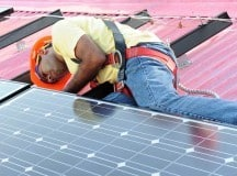 DIY installing solar panels on a house