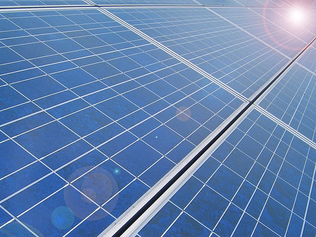 Solar panels - close-up