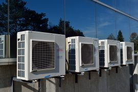 HVAC system on top of building - Home performance testing