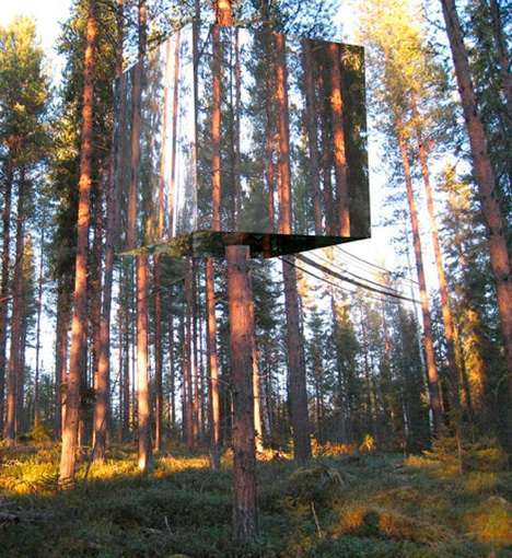 Invisible eco friendly tree house