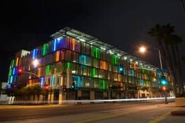 Leed certified green parking structure in Santa Monica - Leed Management Software