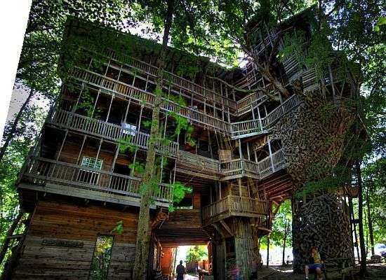 World's tallest treehouse