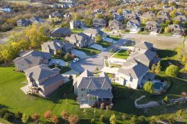 Group of suburban houses seen from above - What home buyers want