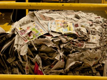 Old newspapers returned to factory - Wallpaper