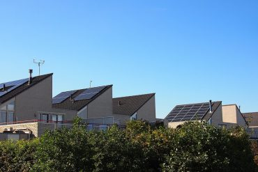 Solar panels on row of houses in Netherlands - Solar in the U.S.