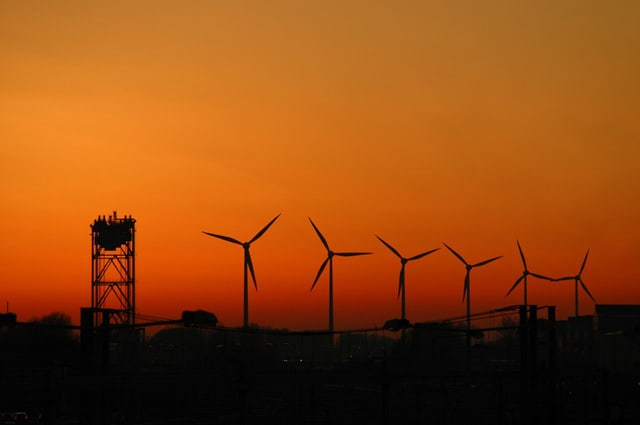 Wind farm - wind turbines