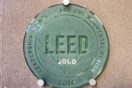 LEED gold plaque, 2014 - Registered LEED products in the world