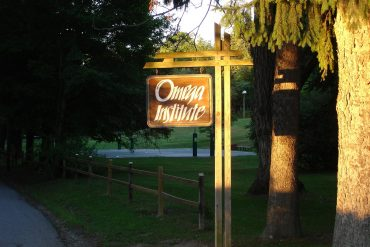Welcome sign for Omega Institute - A look at Omega's living sewage treatment plant