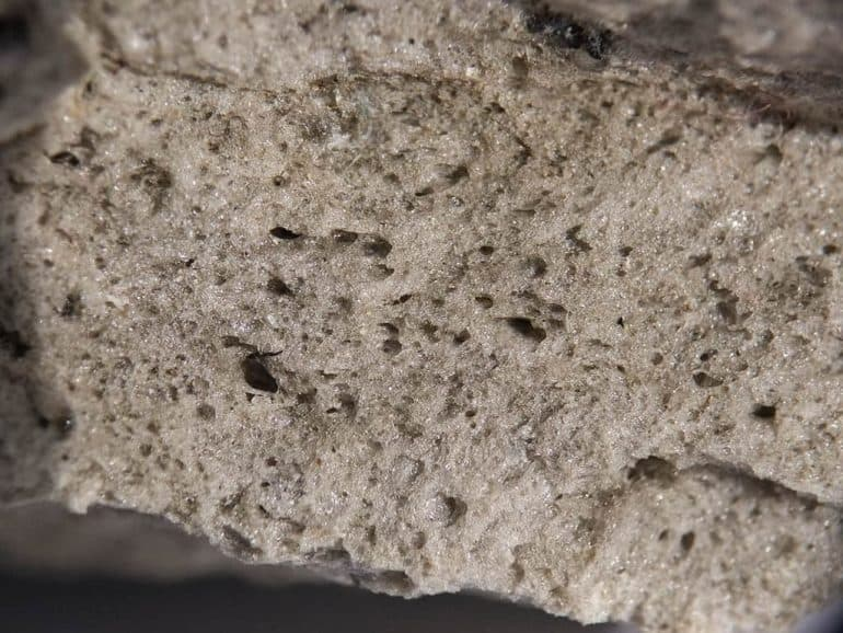 Close-up of pumice stone - Building with pumice