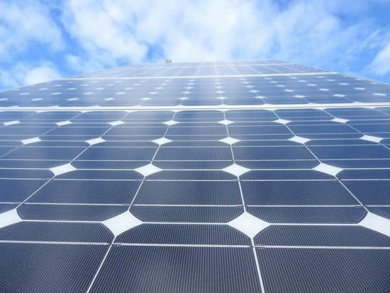 Solar panels against cloud background - Researchers find a way to make solar cells