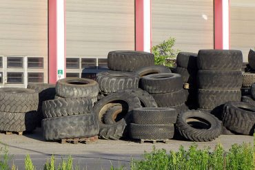 Heap of old black tires - How to make rubber shingles out of old tires