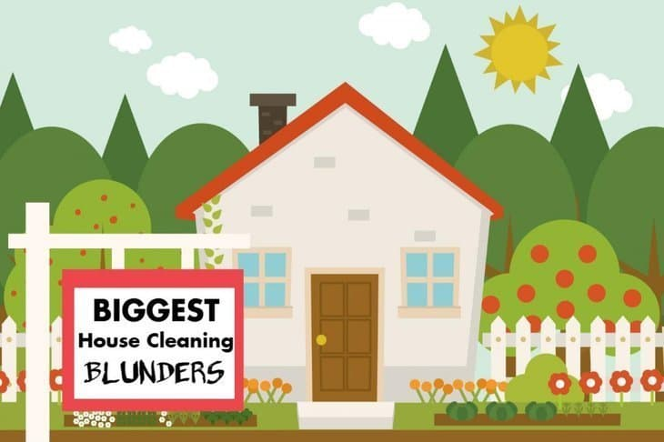 Tips to Avoid the Biggest House Cleaning Blunders [infographic]