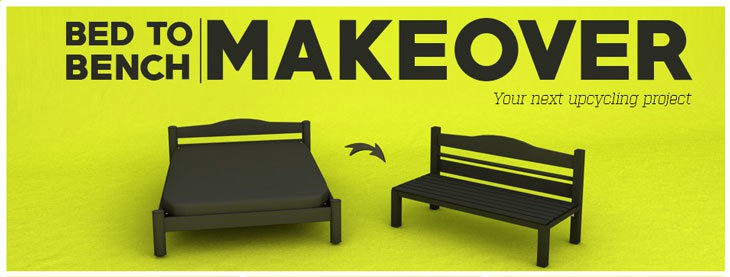 Your Next Upcycling Project: Bed to Bench Makeover