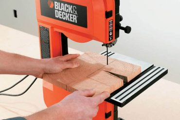 Cutting tiles with band saw - End grain flooring