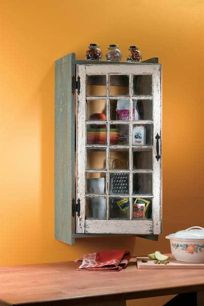 Reclaimed window cabinet after it's built - How to build a reclaimed window cabinet