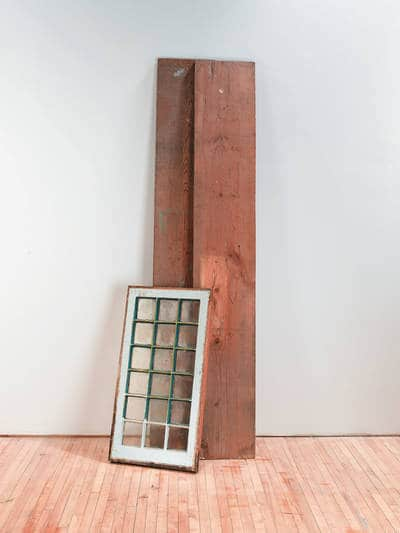 Materials before - How to build a reclaimed window cabinet