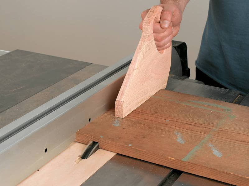 Cutting dadoes with table saw - Reclaimed window cabinet