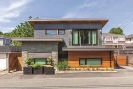 Front full view of solar laneway house - Solar laneway house