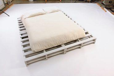 Finished platform bed with mattress - DIY platform bed