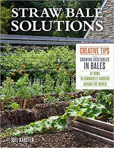 Front cover of Straw Bale solutions book - Schoolyard garden