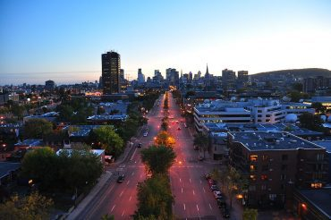 Montreal at dusk - Sustainable city