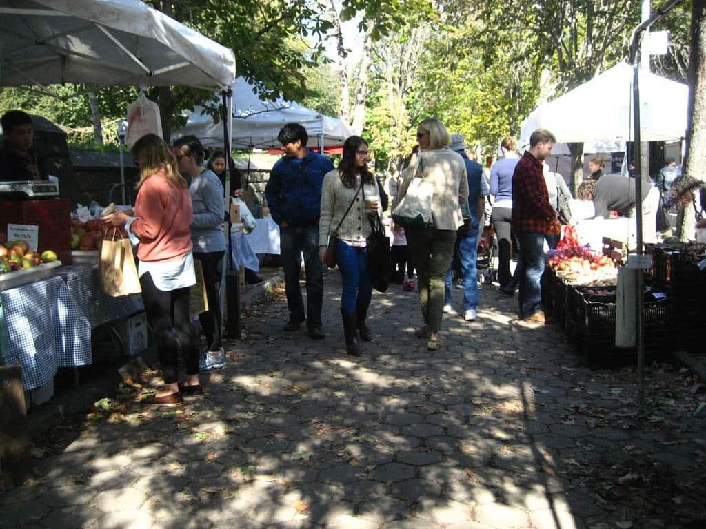 Farmer's market in neighbourhood of Brooklyn, New York City - Outdoor classroom