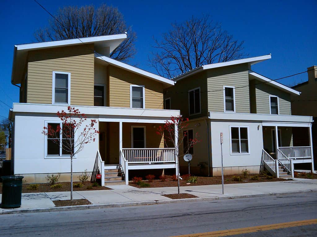 Two LEED-certified homes side by side - 3 eco-friendly building materials for the exterior of your home