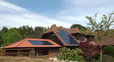 Solar panels integrated into home's roof - Sustainable from the ground up