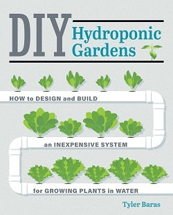 Front cover of DIY Hydroponic Gardens book - How to build a bottle hydroponic garden