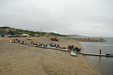 Beach in Kuujjuaq in Quebec, Canada's Nunavik region - Solar panels