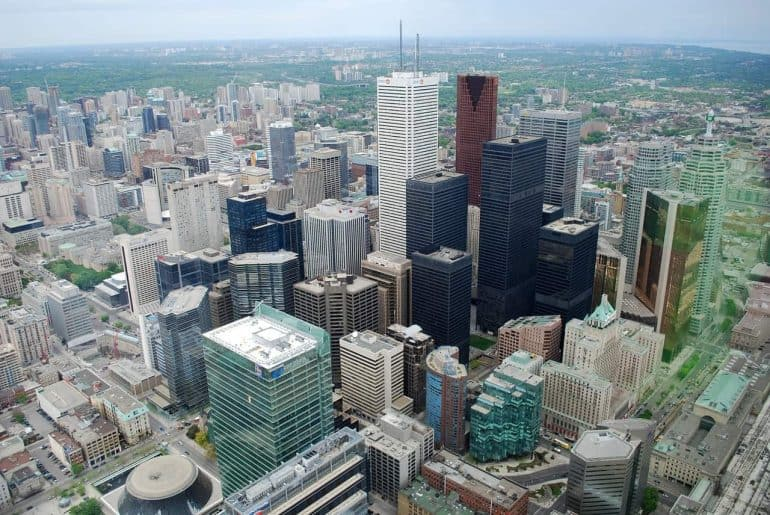 Skyscrapers in downtown Toronto - The quest for energy efficient municipal buildings