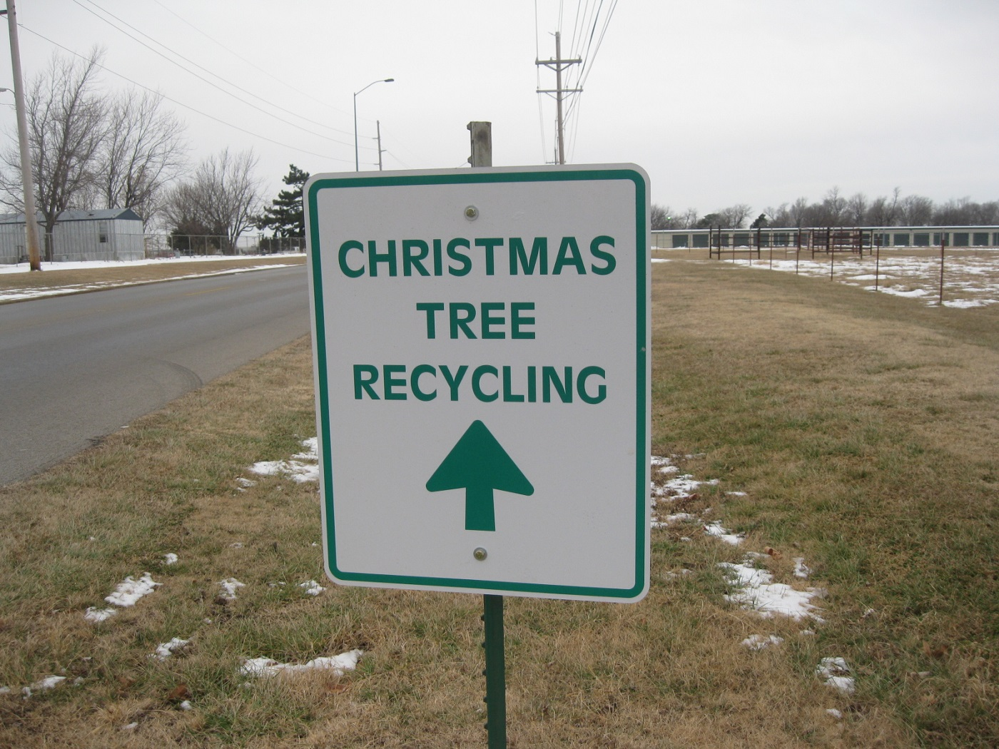 Christmas tree recycling drop-off sign - 5 traditional practices that are getting in the way of green living