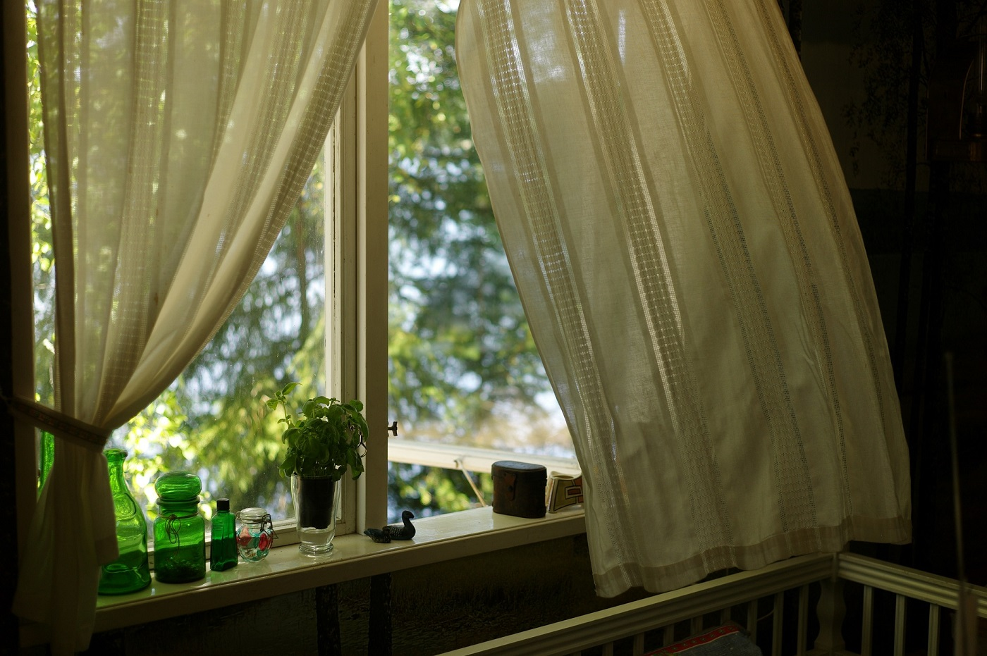 Sunshine coming into home through curtains - 9 ways to determine whether your home is eco-friendly or not