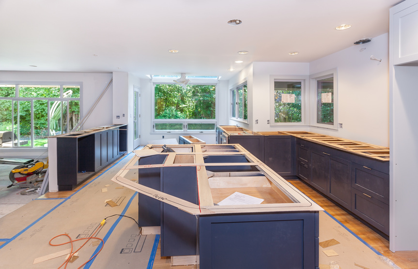 Kitchen staging / remodeling - Cutting and marking balsa wood templates for making engineered stone countertops
