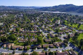 Aerial view of town - 6 changes you can make to your home to save energy