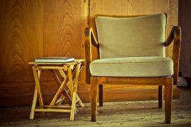 Wood table and chair via Pixabay