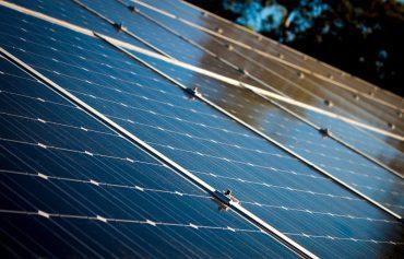 Blue solar panels. Photo from Carl Attard via Pexels.