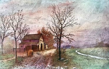 Painting of home in autumn. Image from Pixabay.