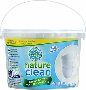 nature clean automatic dishwasher pacs - best safe and non-toxic dish soap